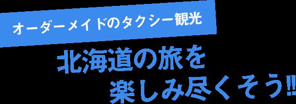 オーダーメイドのタクシー観光 北海道の旅を楽しみ尽くそう!!